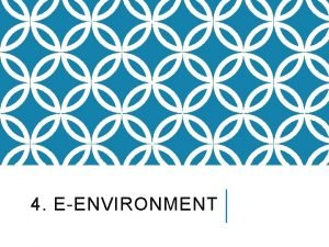 4 EENVIRONMENT Slide 4 2 LEARNING OUTCOMES Identify