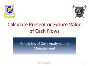 Calculate Present or Future Value of Cash Flows