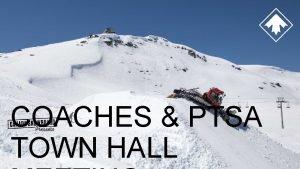 COACHES PTSA TOWN HALL AGENDA Welcome Opening Return