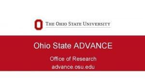 Ohio State ADVANCE Office of Research advance osu