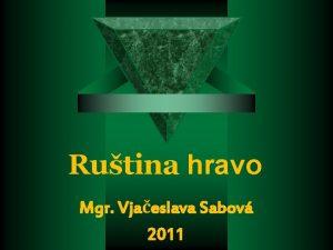 Rutina hravo Mgr Vjaeslava Sabov 2011 Abeceda A