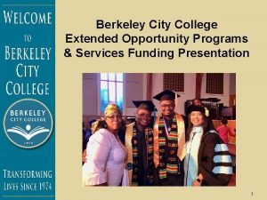 Berkeley City College Extended Opportunity Programs Services Funding