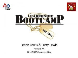 Leann Lewis Larry Lewis Penfield NY 2014 FIRST