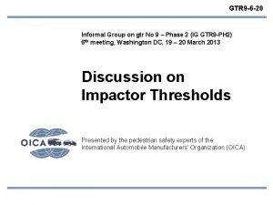GTR 9 6 20 Informal Group on gtr