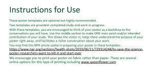 Instructions for Use These poster templates are optional