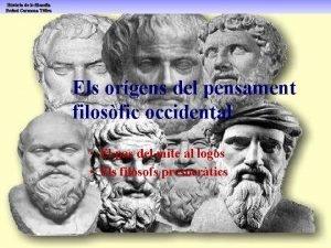 Els orgens del pensament filosfic occidental El pas