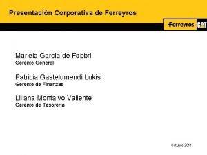 Presentacin Corporativa de Ferreyros Mariela Garca de Fabbri