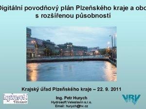 Digitln povodov pln Plzeskho kraje a obc DIGITLN