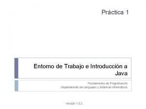 Prctica 1 Entorno de Trabajo e Introduccin a