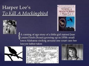 Harper Lees To Kill A Mockingbird A coming