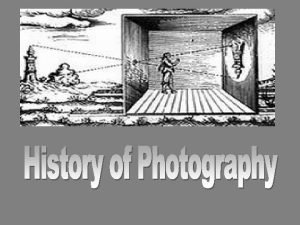 History of Photography Camera Obscura Earliest technological development