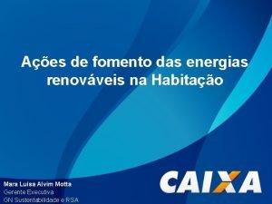 Aes de fomento das energias renovveis na Habitao
