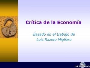 Crtica de la Economa Basado en el trabajo