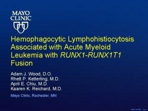 Hemophagocytic Lymphohistiocytosis Associated with Acute Myeloid Leukemia with