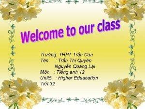 Trng THPT Trn Can Tn Trn Th Quyn
