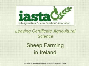Leaving Certificate Agricultural Science Sheep Farming in Ireland