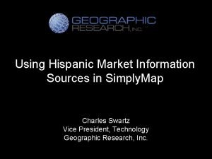 Using Hispanic Market Information Sources in Simply Map