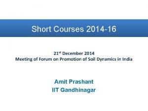 Short Courses 2014 16 21 st December 2014