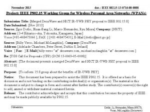 November 2013 doc IEEE 802 15 13 0716