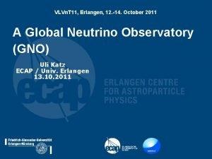 VLVn T 11 Erlangen 12 14 October 2011