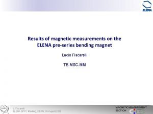 Results of magnetic measurements on the ELENA preseries