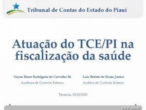 Tribunal de Contas do Estado do Piau Atuao