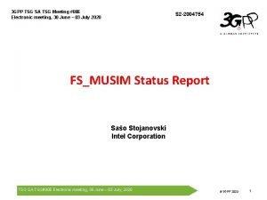 3 GPP TSG SA TSG Meeting 88 E