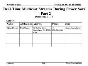 November 2013 doc IEEE 802 11 131413 r