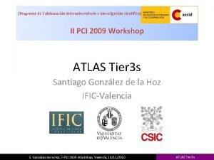 Programa de Colaboracin Interuniversitaria e Investigacin cientfica II