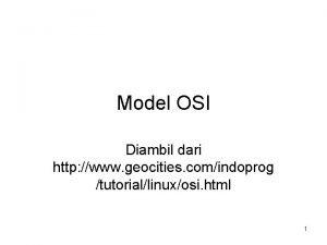 Model OSI Diambil dari http www geocities comindoprog