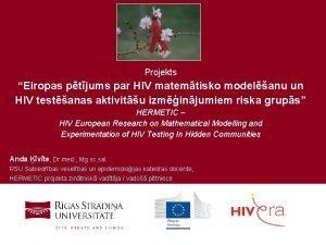 Projekts Eiropas ptjums par HIV matemtisko modelanu un