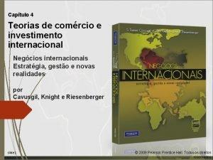 Captulo 4 Teorias de comrcio e investimento internacional