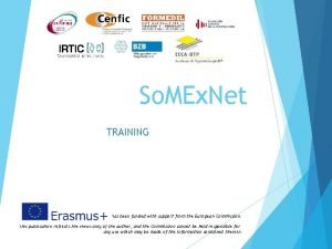 So MEx Net TRAINING This project has been