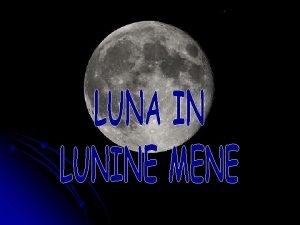 Luna ali Mesec Luna v latinini Selene grki