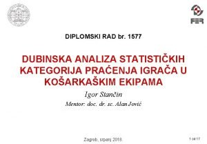 DIPLOMSKI RAD br 1577 DUBINSKA ANALIZA STATISTIKIH KATEGORIJA