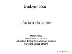 Evo Lyon 2009 Larbre de la vie Manolo