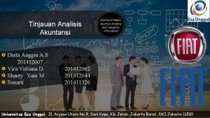 Tinjauan Analisis Akuntansi Dieta Anggie A S 201412007