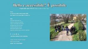 Bello e accessibile possibile Progetto della classe IVB