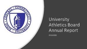University Athletics Board Annual Report 2019 2020 2019