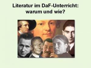 Literatur im Da FUnterricht warum und wie Literatur