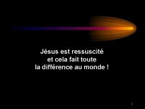 Jsus est ressuscit et cela fait toute la