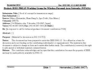 November 2012 Doc IEEE 802 15 12 0655