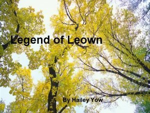 Legend of Leown By Hailey Yow Legend of