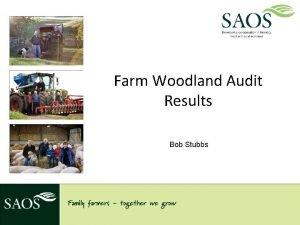Farm Woodland Audit Results Bob Stubbs Background study