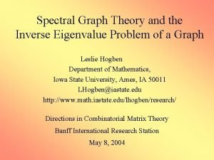 Spectral Graph Theory and the Inverse Eigenvalue Problem