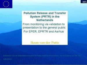 Pollution Release and Transfer System PRTR in the
