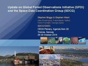 Update on Global Forest Observations Initiative GFOI and