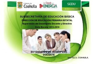 SUBSECRETARA DE EDUCACIN BSICA DIRECCIN DE EDUCACIN PRIMARIA