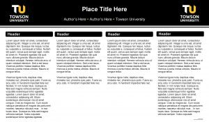 Place Title Here Authors Here Towson University Header