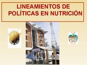 LINEAMIENTOS DE POLTICAS EN NUTRICIN DEFINICIN DE LINEAMIENTOS